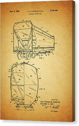 1967 Railway Hopper Car Canvas Print