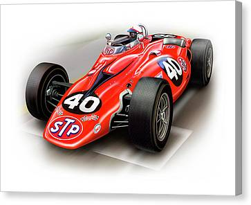 1967 Stp Turbine Indy 500 Car Canvas Print by David Kyte