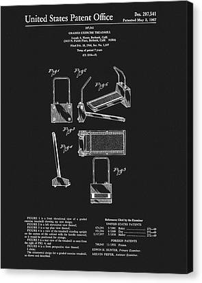 Nike Canvas Print - 1967 Treadmill Patent by Dan Sproul