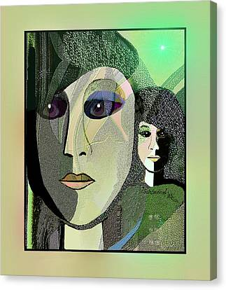 Canvas Print featuring the digital art 1968 - A Dolls Head by Irmgard Schoendorf Welch