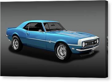 1968 Chevrolet Camaro Super Sport 350   -  1968chevcamaross350fa170414 Canvas Print
