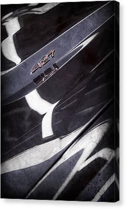 1968 Chevrolet Yenko Super Camaro 427 Hood Emblem -1805ac Canvas Print