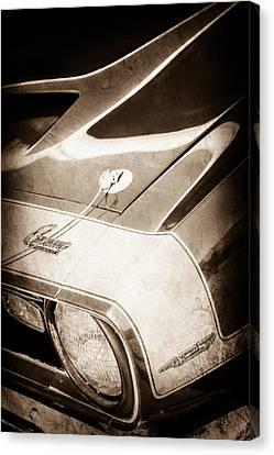 1968 Chevrolet Yenko Super Camaro Emblem -0653s Canvas Print