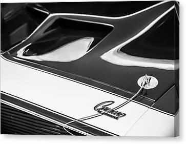1968 Chevrolet Yenko Super Camaro Hood Emblem -1767bw Canvas Print