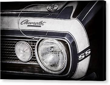 1968 Chevrolet Yenko Super Camaro Hood Emblem -1785ac Canvas Print