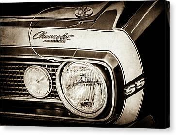 1968 Chevrolet Yenko Super Camaro Hood Emblem -1785s Canvas Print