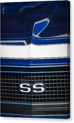 1968 Chevrolet Yenko Super Camaro Ss Grille Emblem -1745c Canvas Print