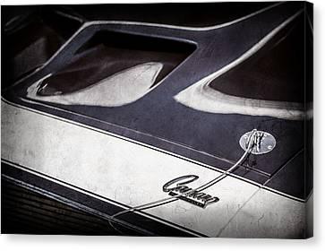 1968 Chevrolet Yenko Super Camaro Ss Hood Emblem -1767ac Canvas Print