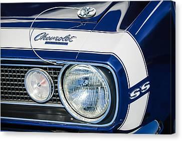 1968 Chevrolet Yenko Super Camaro Ss Hood Emblem -1785c Canvas Print