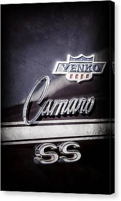 1968 Chevrolet Yenko Super Camaro Ss Side Emblem -1762ac Canvas Print