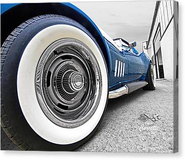 1968 Corvette White Wall Tires Canvas Print by Gill Billington