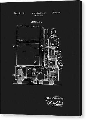 1968 Forklift Patent Canvas Print