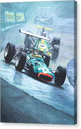 1968 German Gp Nurburgring  Canvas Print by Yuriy Shevchuk