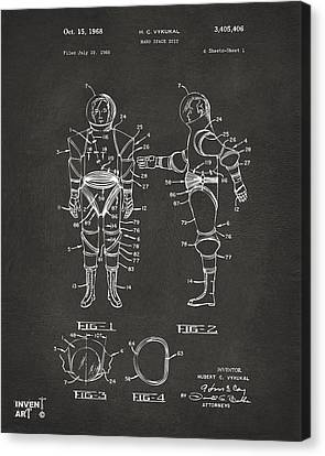 1968 Hard Space Suit Patent Artwork - Gray Canvas Print by Nikki Marie Smith