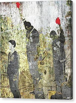 Contrast Canvas Print - 1968 Olympics Black Power Salute by Tony Rubino