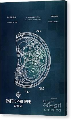 1968 Patek Philippe Patent 1 Canvas Print by Nishanth Gopinathan