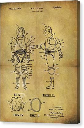 1968 Space Suit Patent Canvas Print by Dan Sproul