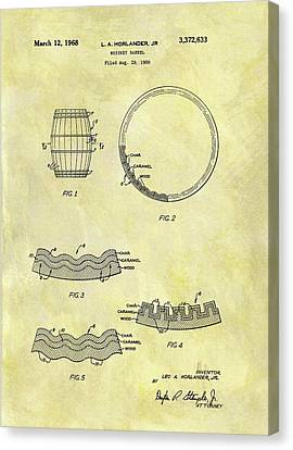1968 Whiskey Barrel Patent Canvas Print by Dan Sproul