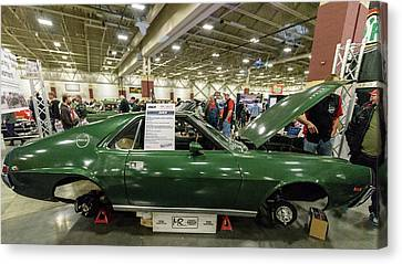 Canvas Print featuring the photograph 1969 Amc Amx by Randy Scherkenbach