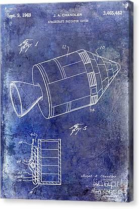 1969 Apollo Spacecraft Patent Blue Canvas Print by Jon Neidert
