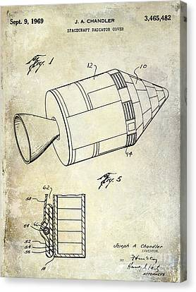 1969 Apollo Spacecraft Patent Canvas Print by Jon Neidert