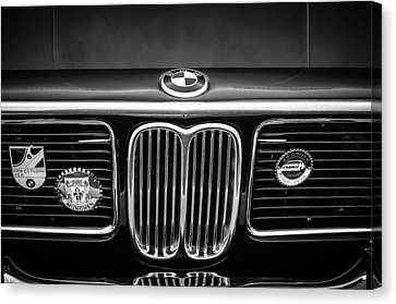 1969 Bmw 2800 Cs E-9 Series Grille -0342bw Canvas Print by Jill Reger