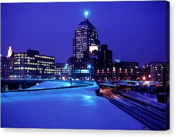 Canvas Print featuring the photograph  1969 Boston Twilight by Historic Image