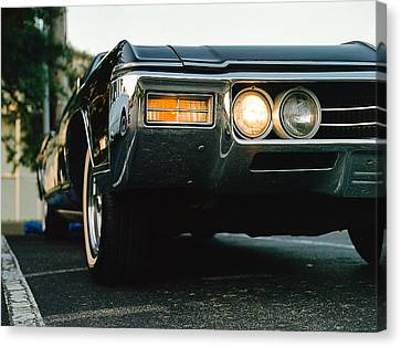 1969 Buick Riviera Canvas Print by Jon Woodhams