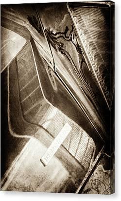 1969 Cadillac Eldorado Taillight Emblem -0285s Canvas Print