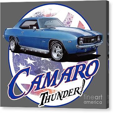 1969 Canvas Print - 1969 Camaro By Chevrolet by Paul Kuras