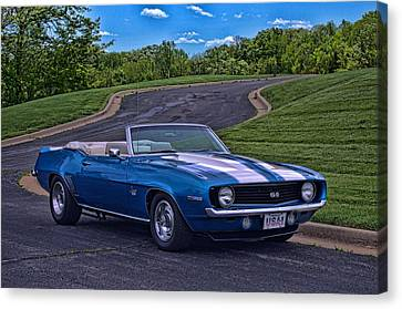 Canvas Print featuring the photograph 1969 Camaro Ss Convertible by Tim McCullough