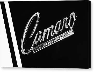 1969 Chevrolet Camaro Z-28 302 Emblem -0162bw Canvas Print