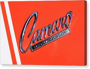 1969 Chevrolet Camaro Z-28 302 Emblem -0162c Canvas Print