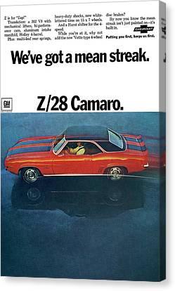 1969 Chevrolet Camaro Z/28 Canvas Print by Digital Repro Depot