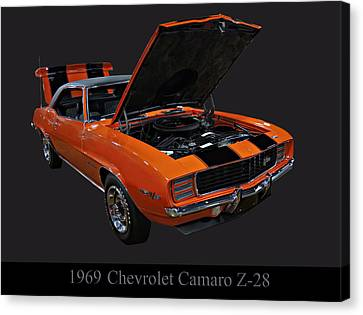 1969 Chevy Camaro Z28 Canvas Print by Chris Flees