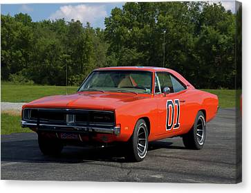 1969 Dodge Charger Rt Canvas Print by Tim McCullough