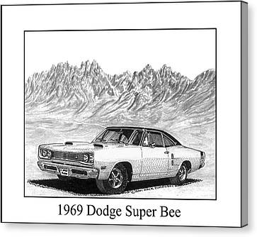 1969 Dodge Super Bee Canvas Print by Jack Pumphrey