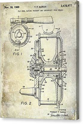 1969 Fly Reel Patent Canvas Print by Jon Neidert