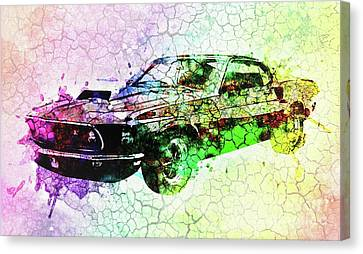 1969 Ford Mustang Boss 429 Canvas Print by Galambosi Tamas