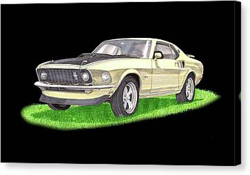 1969 Ford Mustang Fastback Canvas Print by Jack Pumphrey