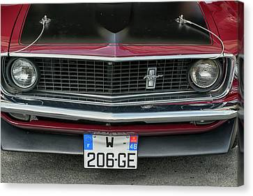 1969 Canvas Print - 1969 Ford Mustang Mach 1 by Georgia Fowler