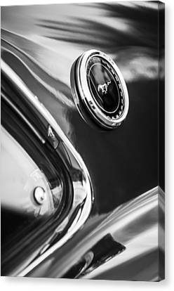 1969 Ford Mustang Mach 1 Side Emblem -1106bw Canvas Print by Jill Reger