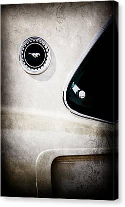 1969 Ford Mustang Mach I Side Emblem -0456ac Canvas Print