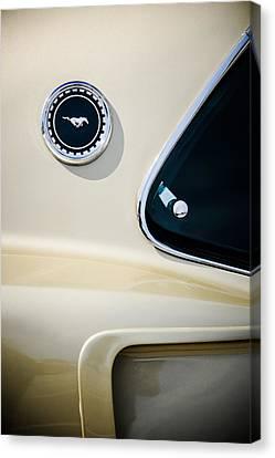 1969 Ford Mustang Mach I Side Emblem -0456c Canvas Print