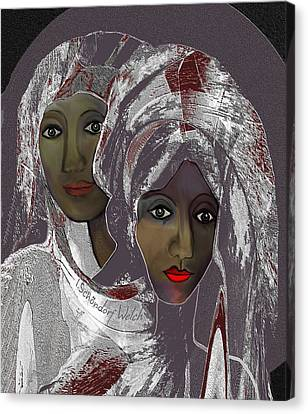 Canvas Print featuring the digital art 1969 -  White Veils by Irmgard Schoendorf Welch