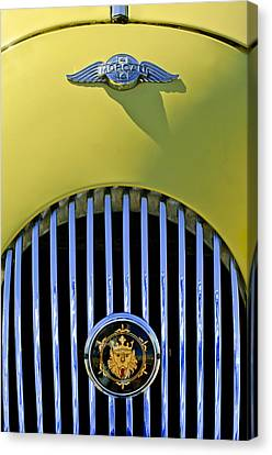 1969 Morgan Roadster Grille Emblems Canvas Print by Jill Reger