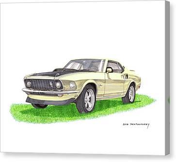 1969 Mustang Fastback Canvas Print by Jack Pumphrey
