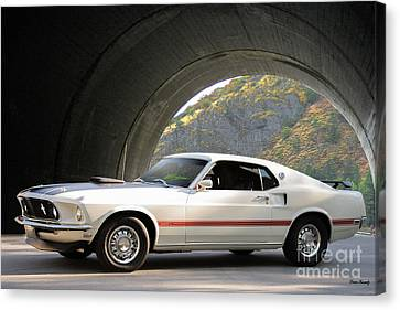 1969 Mustang Mach I Fasback Canvas Print