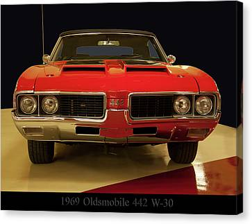 Canvas Print featuring the photograph 1969 Oldsmobile 442 W-30 by Chris Flees