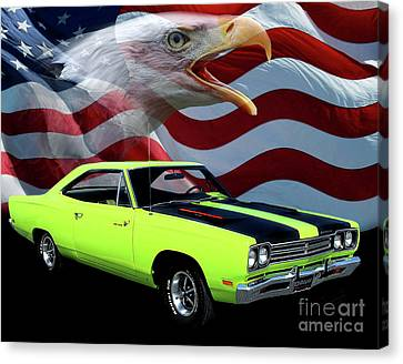 1969 Plymouth Road Runner Tribute Canvas Print by Peter Piatt